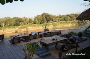 Utopia Bar e restaurante com vista para o Mekong