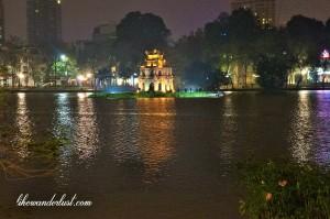 Lago central em Hanoi